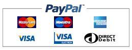 Paiement par virement, Visa, Mastercard - Paypal