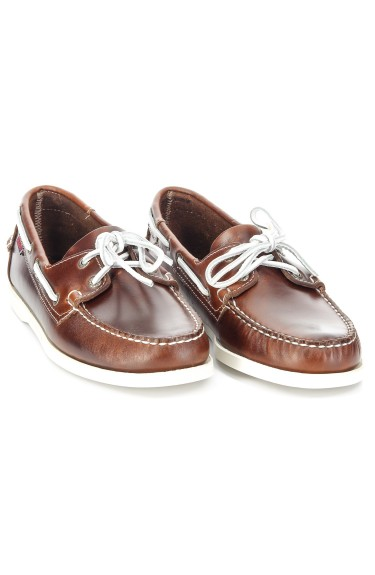 DOCKSIDES Brown Oiled Waxy Leather