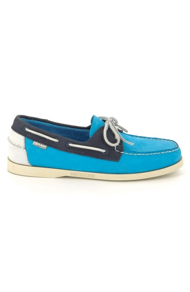 Docksides Navy/Aqua Blue/White Nubuck