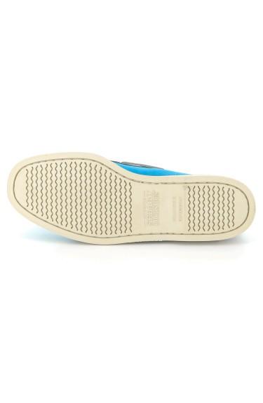 DOCKSIDES Navy/Aqua Blue/White Nubuck