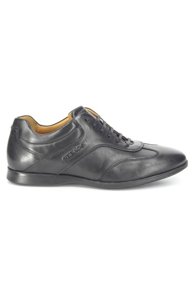 Teague T-Toe Black Leather