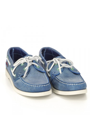 DOCKSIDES Blue Waxy Suede