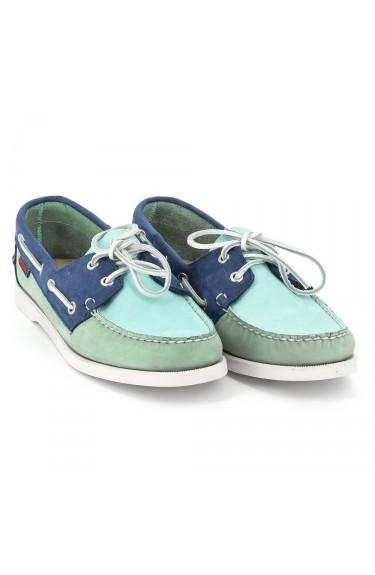 DOCKSIDES Blue/Mint/Navy Nubuck