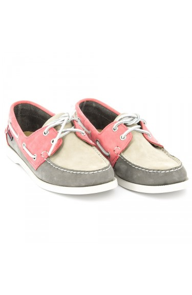 DOCKSIDES Taupe/Grey/Coral Nubuck