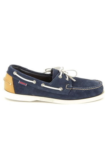 Docksides Blue Suede/Tan