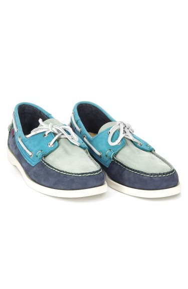Docksides Navy/Mint/Teal Nubuck