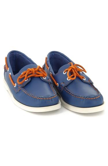 DOCKSIDES Blue/Orange Lace Nubuck