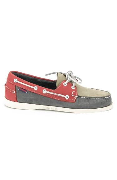 Docksides Smoke/Grey/Red Nubuck