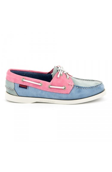 Docksides Grey/Light Blue/Pink Nubuck