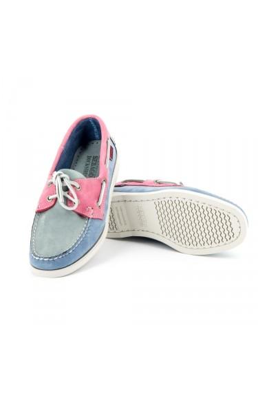 DOCKSIDES Grey/Light Blue/Pink Nubuck