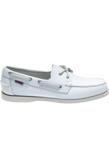 Docksides  White Leather