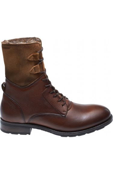 LANEY LACE BOOT COGNAC LEA/SDE