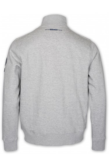 PORT FULL ZIP LIGHT GREY MELAN