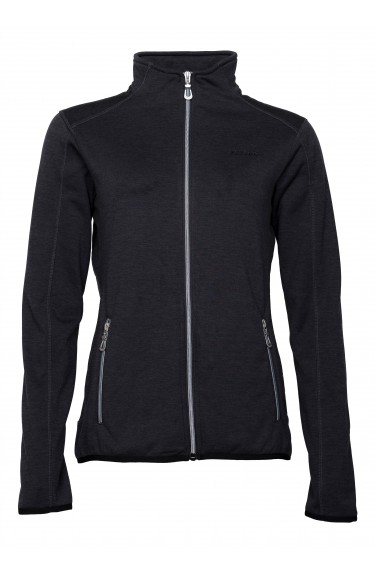 NICCOLE ZIP FLEECE JACKET BLAC