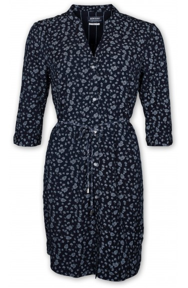 ROSIE DRESS INDIGO BLUE AOP