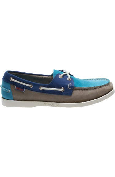 Docksides Taupe/Teal/Navy