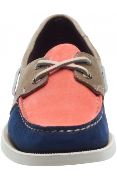 Docksides Navy/Coral/Tan