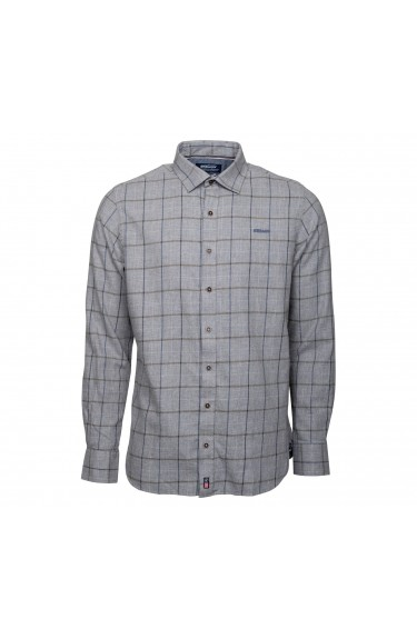 STEVEN FLANNEL CHECK SHIRT GRE