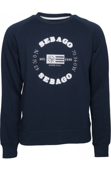 LOGO CREW NECK  NAVY