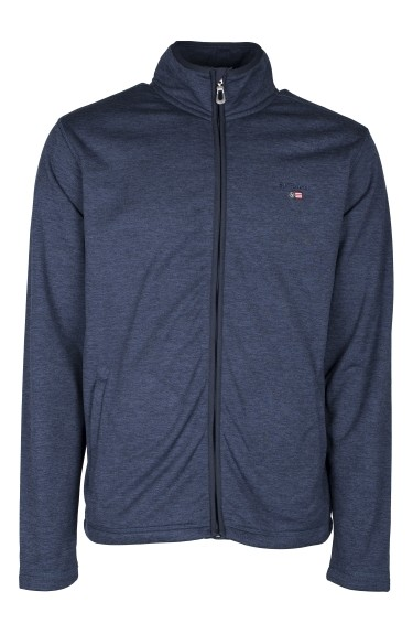 NICLAS ZIP FLEECE JACKET NAVY