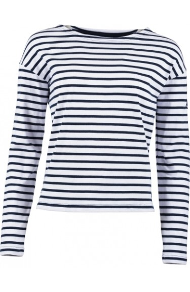 SAILOR W STRIPE LS WHITE/ NAVY