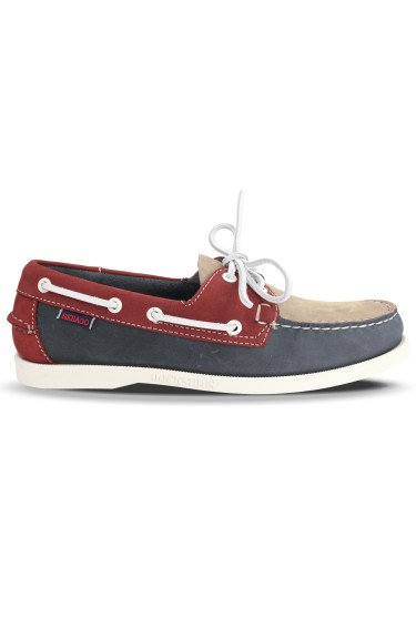 Docksides Portland Spinnaker Nubuck  Light Grey/Smoke/Red