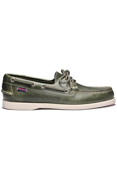 Docksides Portland Waxed Men Green Military