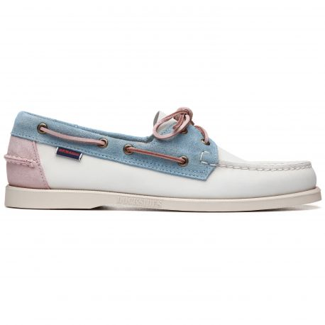Docksides Portland Pastel  White/Baby Blue/Baby Pink