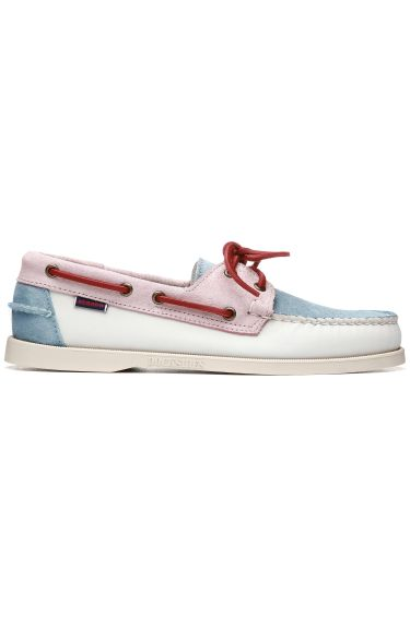Docksides Portland Pastel  White/Baby Pink/Baby Blue