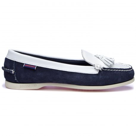 JANET SUEDE LEA Navy-White